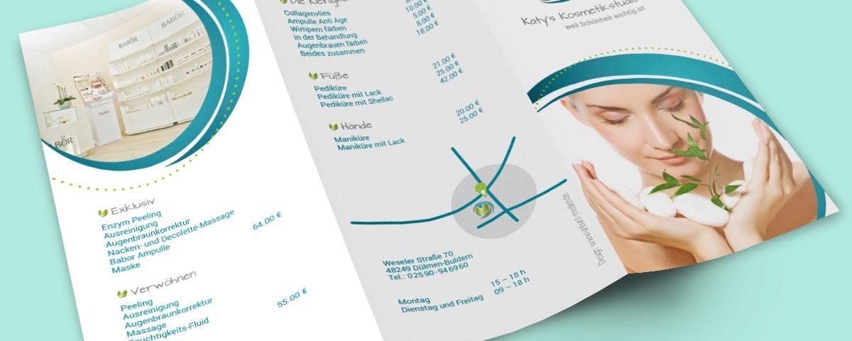 Flyer Preisliste Kosmetikstudio