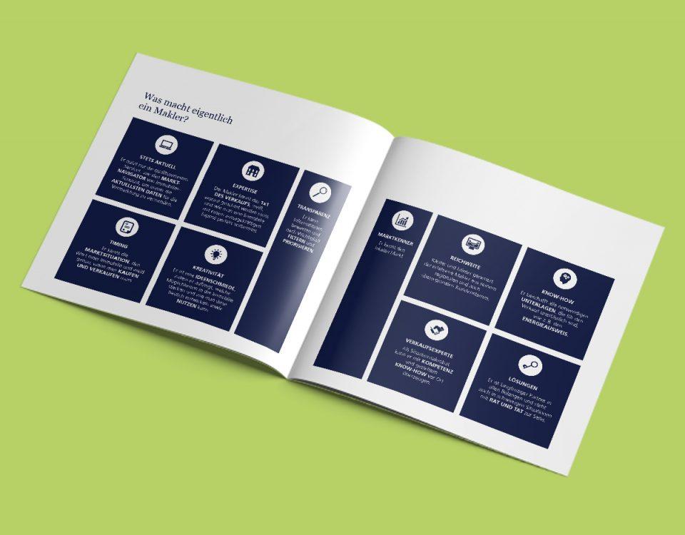 Immobilienmakler Broschüre